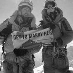 Lee and Gleich at the summit of Everest